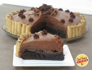 brownie truffle pie