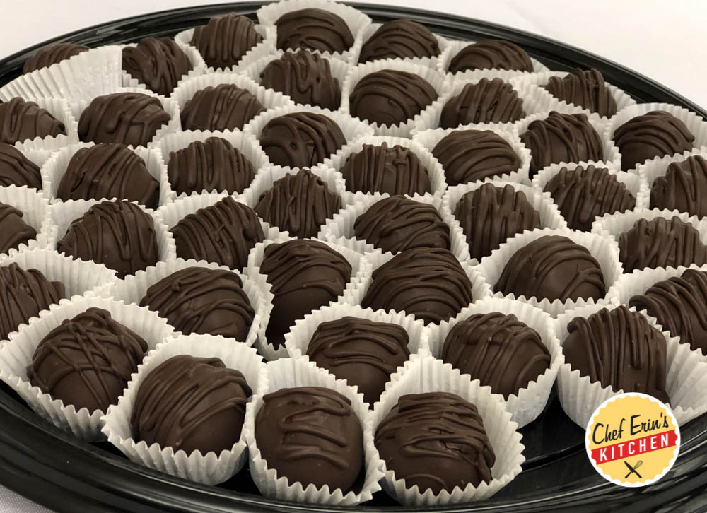 dark chocolate mocha truffles